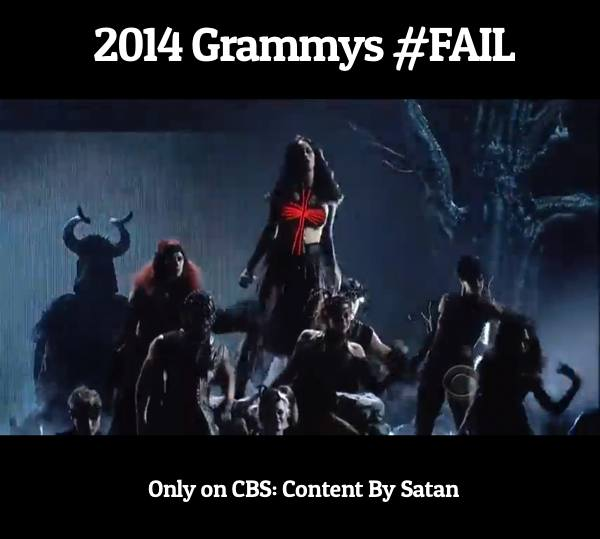 GRAMMYS #FAIL with CBS Satanic performance