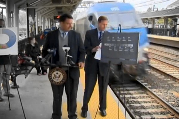 Credibility Killer: Senator Blumenthal nearly avoids fast-moving train during his own railroad safety press conference