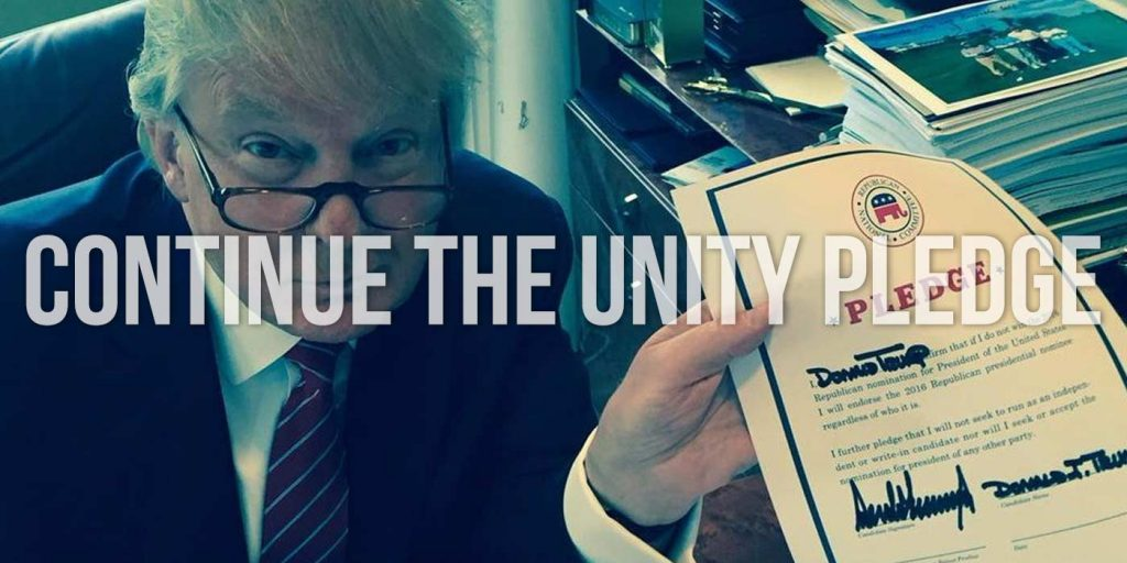 GOP Unity Pledge