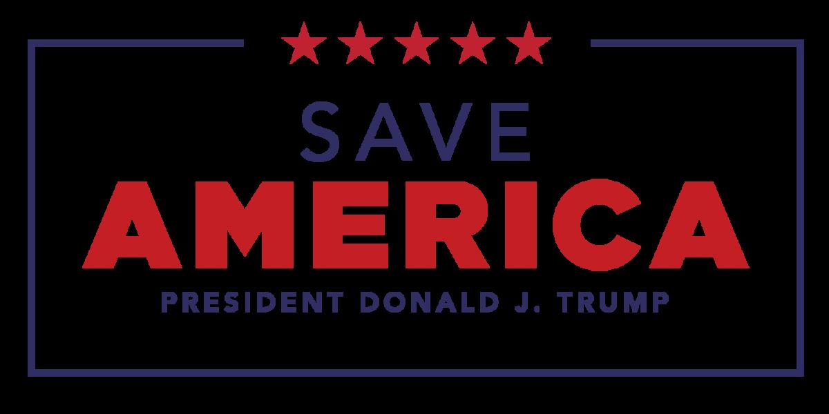 Save America President Donald J. Trump logo transparent PNG