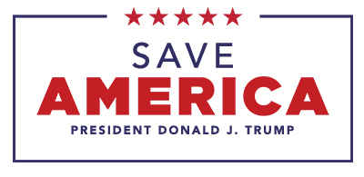 Save America President Donald J. Trump  (400px wide)  Save America logo