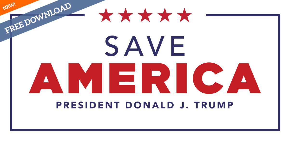 Downloadable SAVE AMERICA Donald J. Trump logo